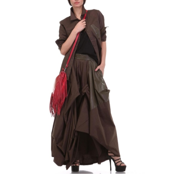 TOV Holy Dresses & Skirts - Olive Damsel Maxi Skirt